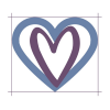 "Heart inside heart, denoting ""heart to heart"" - having a meaningful conversation"